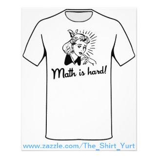 De wiskunde is Hard Flyer 11,4 X 14,2 Cm