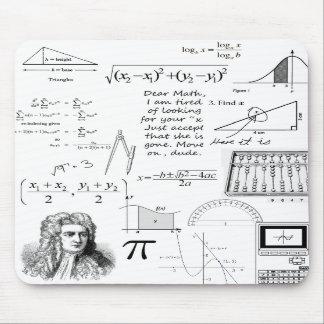 De wiskunde is Mijn Stootkussen van de Muis van he Muismat