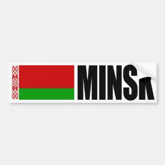 De Witrussische Vlag van Minsk Bumpersticker