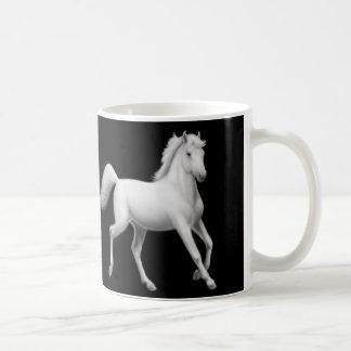 De witte Arabische Mok van Paarden