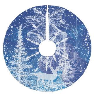 De witte Blauwe Achtergrond van de Klokken & van Kerstboom Rok