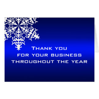 De witte & Blauwe Zaken danken u nota nemen van Notitiekaart