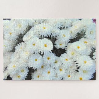 De witte Bloemen van de Chrysant Legpuzzel