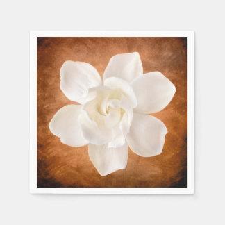 De witte Bloesem van de Bloem van Gardenia Bloemen Wegwerp Servetten