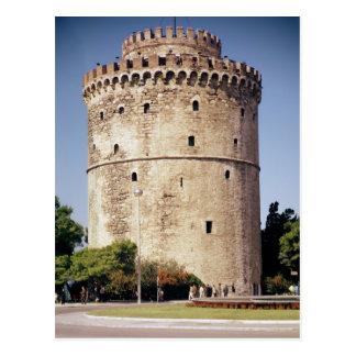De witte die Toren, wordt gebouwd tijdens Briefkaart