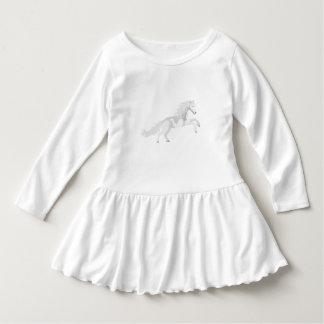 De Witte Eenhoorn van de illustratie Baby Jurk
