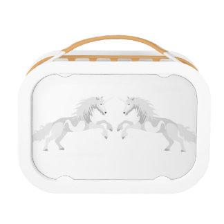 De Witte Eenhoorn van de illustratie Lunchbox