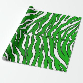 De witte en Groene Dierlijke Druk van de Strepen Inpakpapier