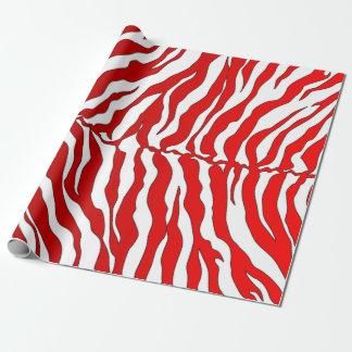 De witte en Rode Dierlijke Druk van de Strepen van Inpakpapier