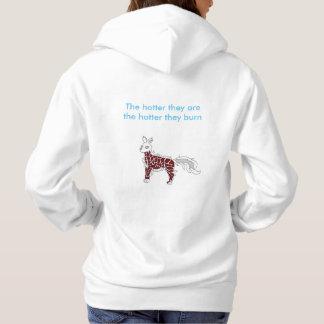 De witte hond van de Vlam hoodie