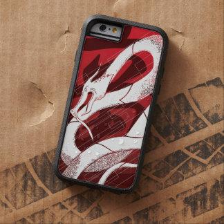 De witte Japanse Rode Achtergrond van de Draak Tough Xtreme iPhone 6 Hoesje