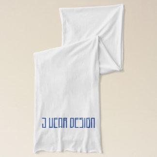 de witte Jersey J sjaal van het slijtageontwerp Sjaal