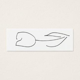 De witte Kaart van de Tulp Mini Visitekaartjes