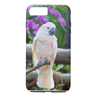 De witte Kaketoe van de Paraplu iPhone 8/7 Plus Hoesje