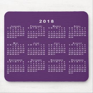 De witte Kalender van 2018 op Douane Paarse Muismatten