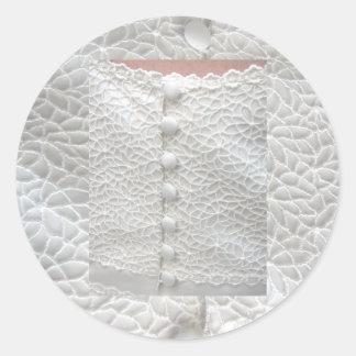 De witte Klantgerichte Sticker van de Toga van het