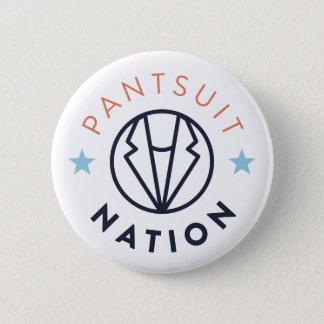 De Witte Knoop van de Natie van Pantsuit, Ronde Button 5,7 Cm
