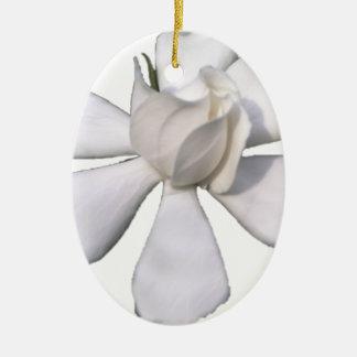 De witte Knop 201711g van Gardenia Keramisch Ovaal Ornament
