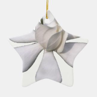 De witte Knop 201711g van Gardenia Keramisch Ster Ornament