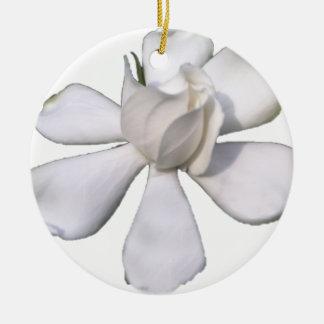 De witte Knop 201711g van Gardenia Rond Keramisch Ornament
