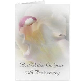 de Witte Orchidee van het 70ste Jubileum van het H Wenskaart