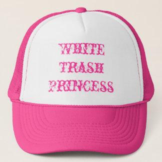 De witte Prinses van het Afval Trucker Pet