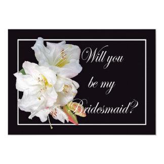 De witte Rododendron, zal u mijn Bruidsmeisje 12,7x17,8 Uitnodiging Kaart