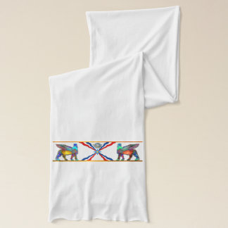De witte Sjaal van de vlag Assyrian (Lamassu) Sjaal