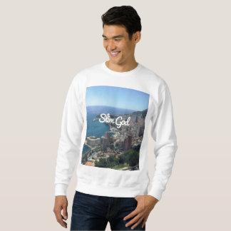 De witte Slanke Sweater van de God