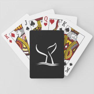 De witte Staart van de Walvis op Zwarte Pokerkaarten