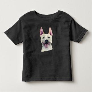 De witte Staffordshire Bull terrier Waterverf van Kinder Shirts