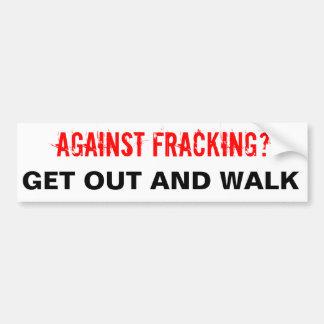 De Witte Sticker van de Bumper van Fracking,