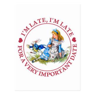De witte Stormlopen van het Konijn door Alice in Briefkaart