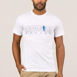 De witte T-shirt van de Natie Swoldier