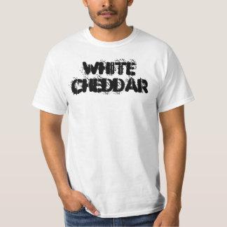 De witte T-shirt van de Stencil van de Cheddar