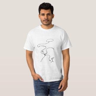 De Witte T-shirt van de waarde. Yee Ha