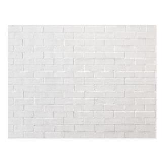 De witte Textuur Grunge van de Bakstenen van de Briefkaart