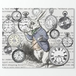 De witte Tijd Alice van het Konijn in Cadeaupapier