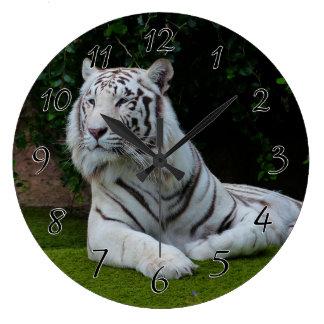 De witte Tijger van Bengalen Ronde Klok Large