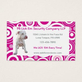 De witte Visitekaartjes van het Puppy Pitbull
