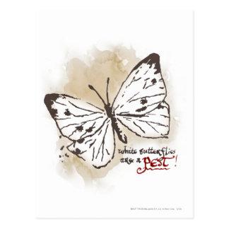 De witte Vlinders zijn een Ongedierte Briefkaart