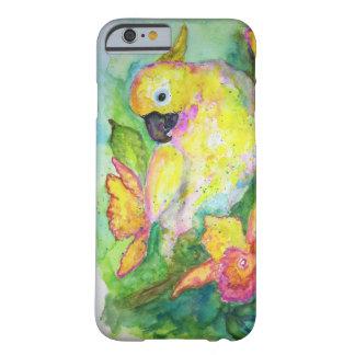 De witte Waterverf van de Papegaai Barely There iPhone 6 Hoesje