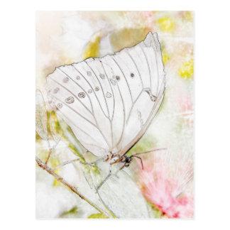 De witte Waterverf van de Vlinder Briefkaart