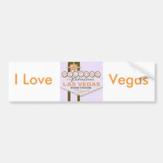 De Wittebroodsweken van Las Vegas Bumpersticker
