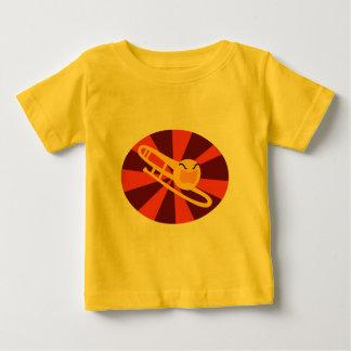 De woedende T-shirt van het Baby van de Trombone