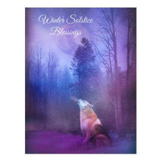 De Wolf en de Sneeuw van de Zegen van de Briefkaart