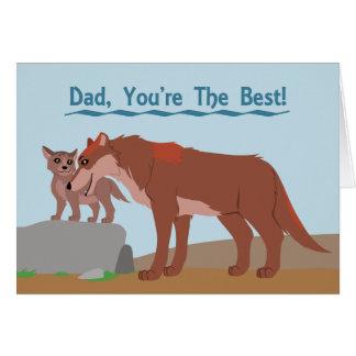 De Wolf en het Jong van de vader Briefkaarten 0