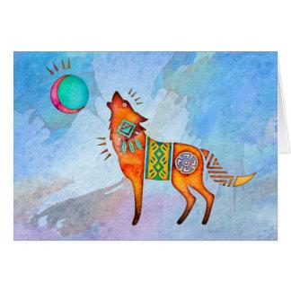 De Wolf Lege Notecard van de geest Kaart