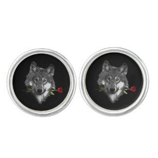 De wolf nam toe manchetknopen