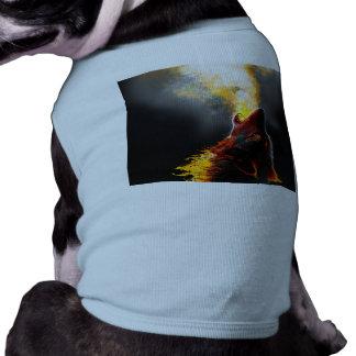 De wolf van de brand mouwloos hondenshirt